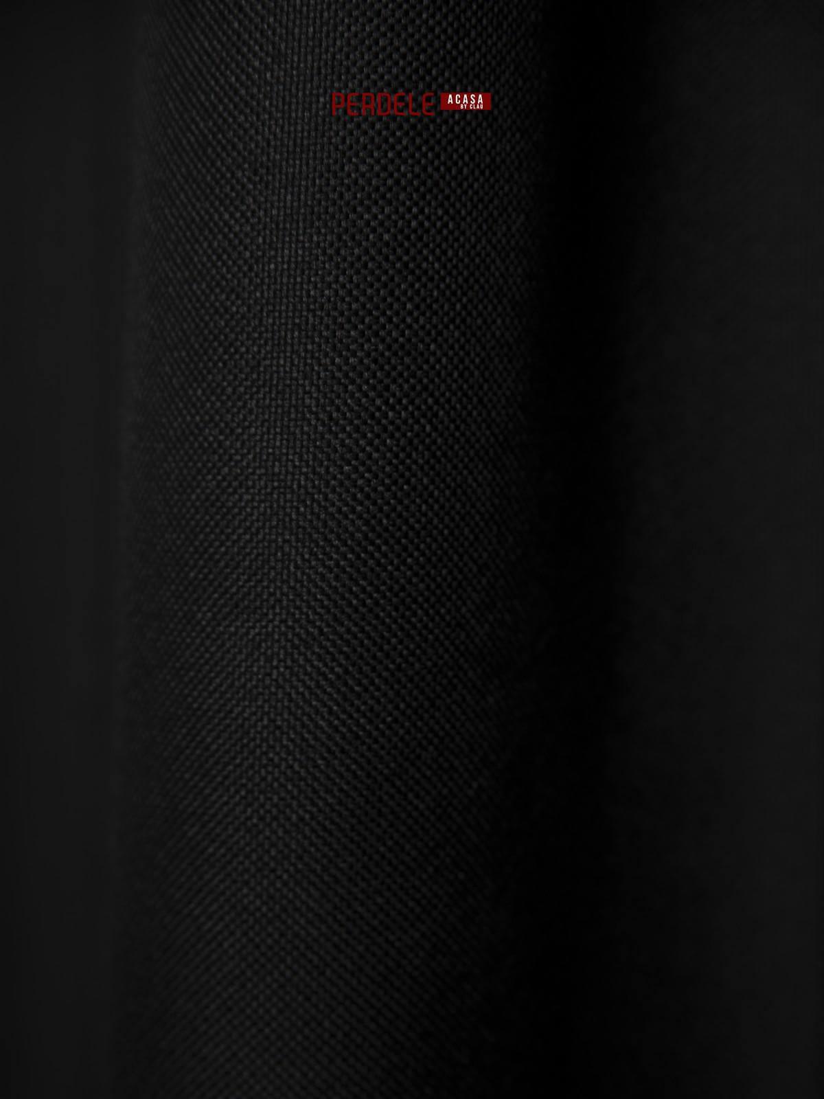 Draperie blackout rustic negru