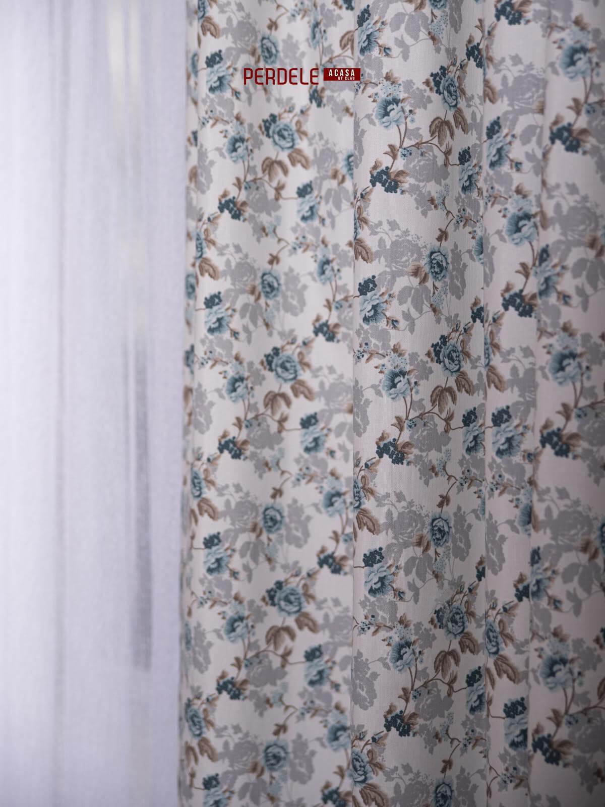Draperie bumbac ,model flori