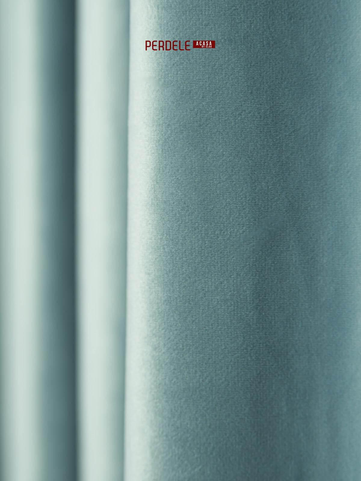 Draperie catifea bleu