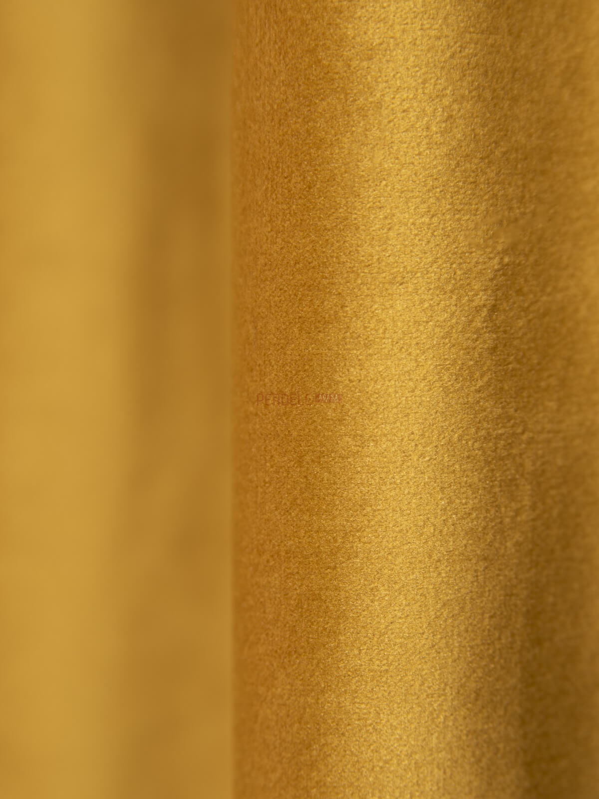 Draperie catifea galben mustar