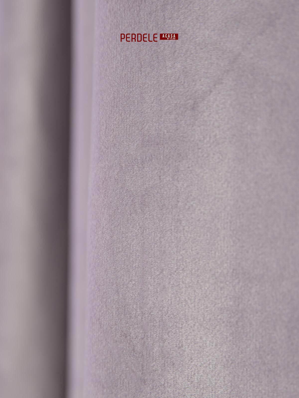 Draperie catifea pictata lila