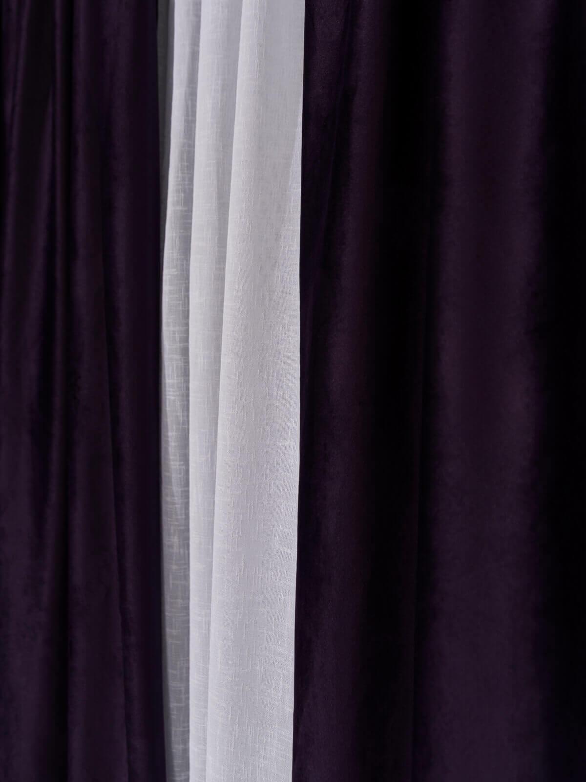 Draperie catifea violet