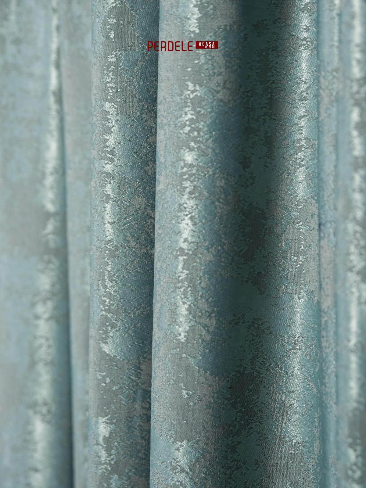 Draperie nisip, turquoise