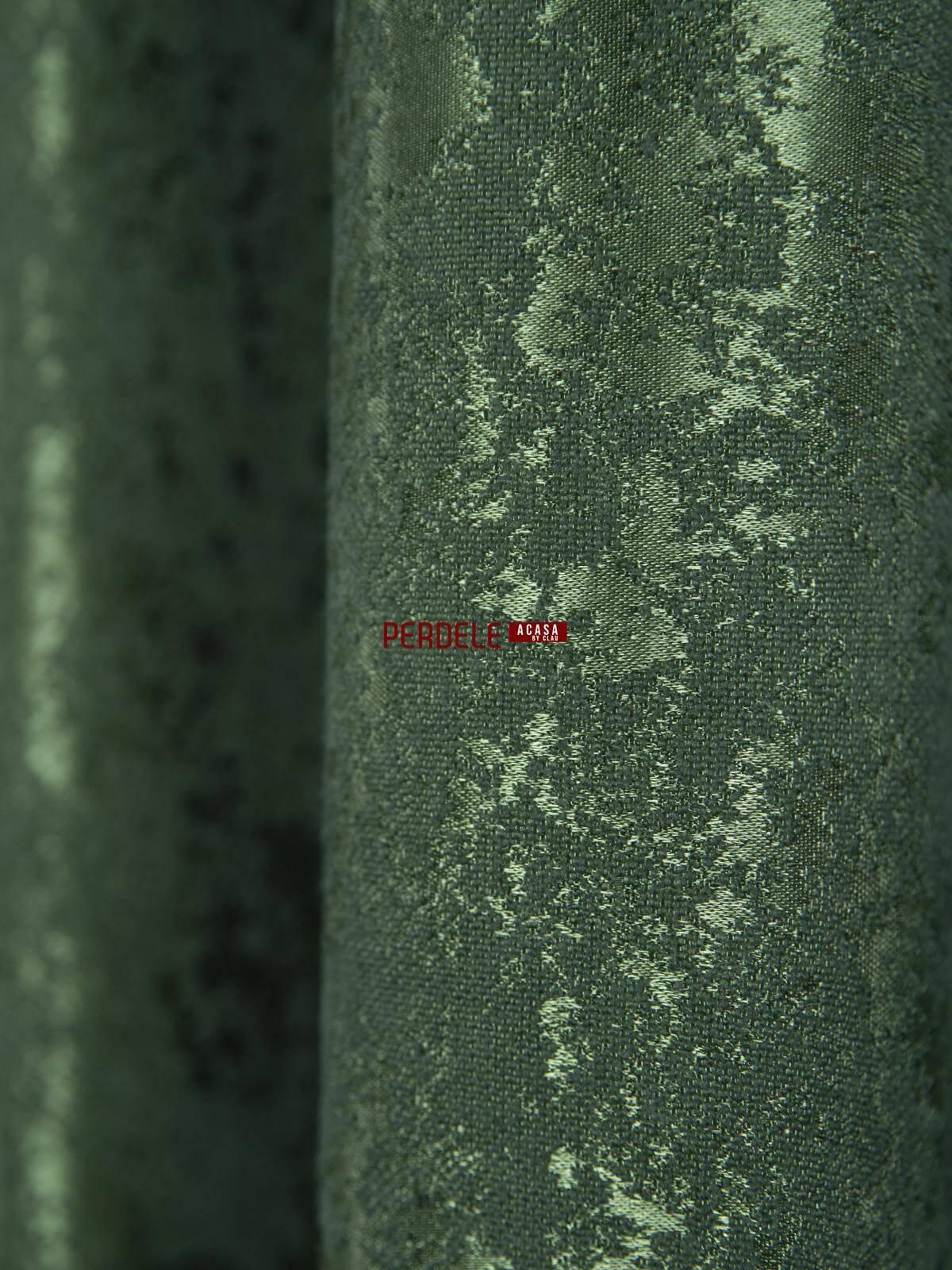 Draperie nisip verde