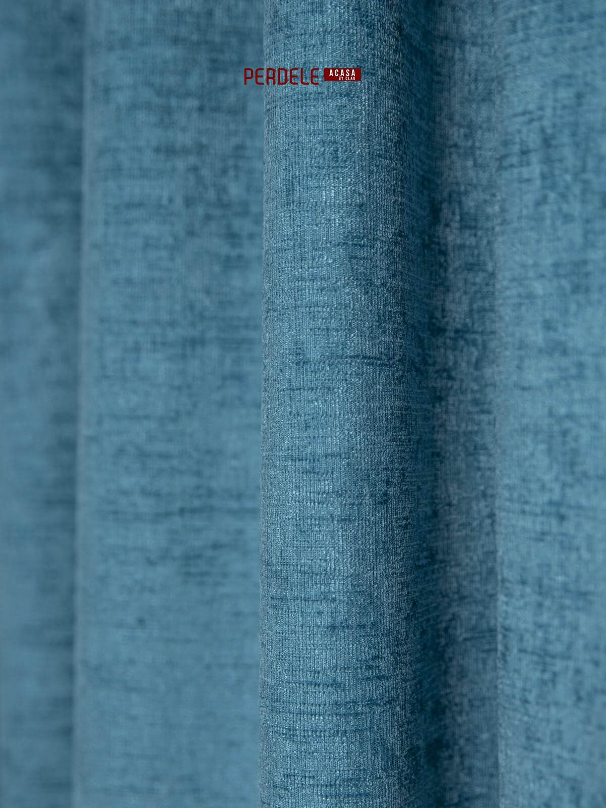Draperie raiat albastru