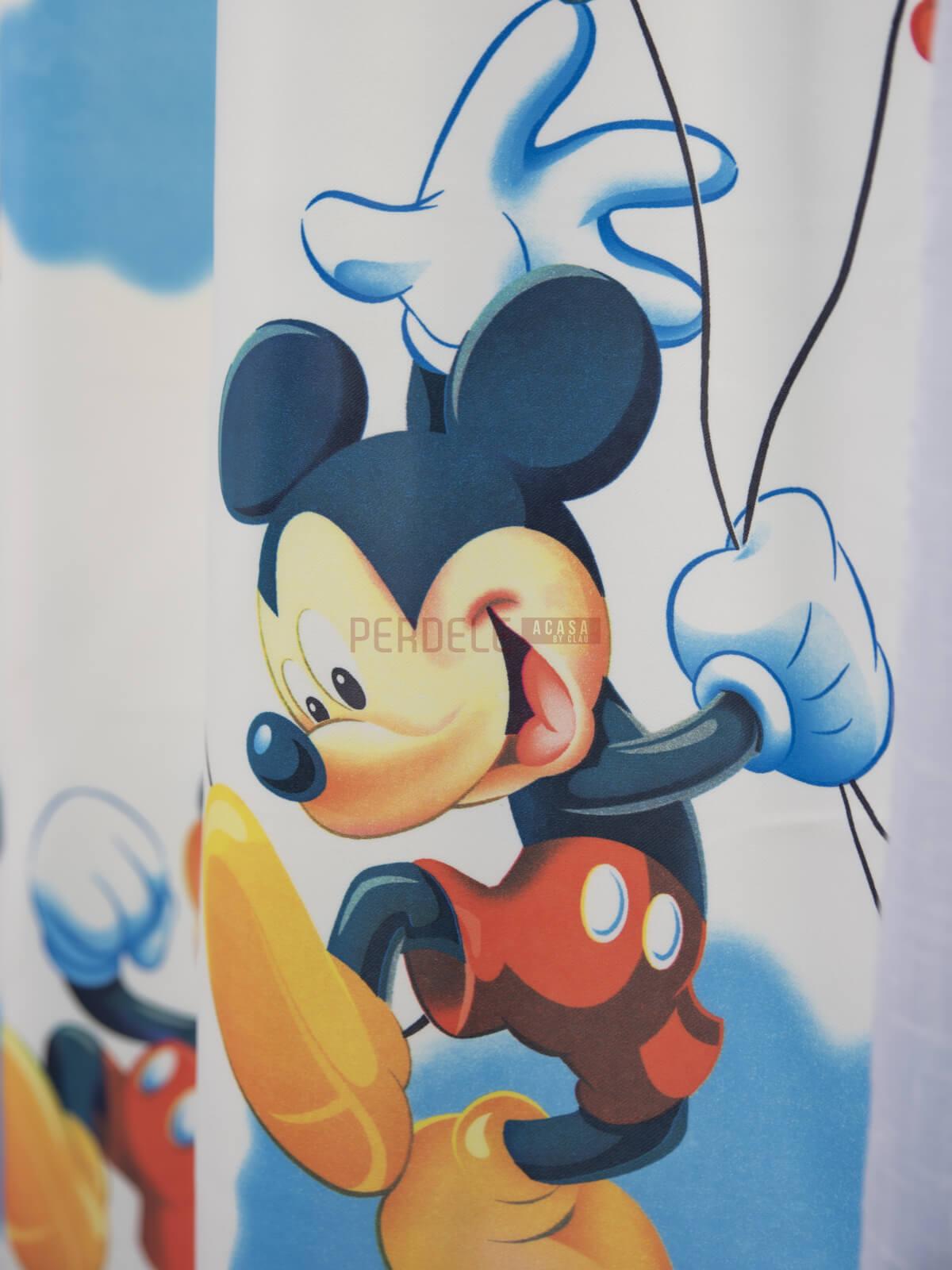 Draperie satin model pentru copii cu Mikey Mouse