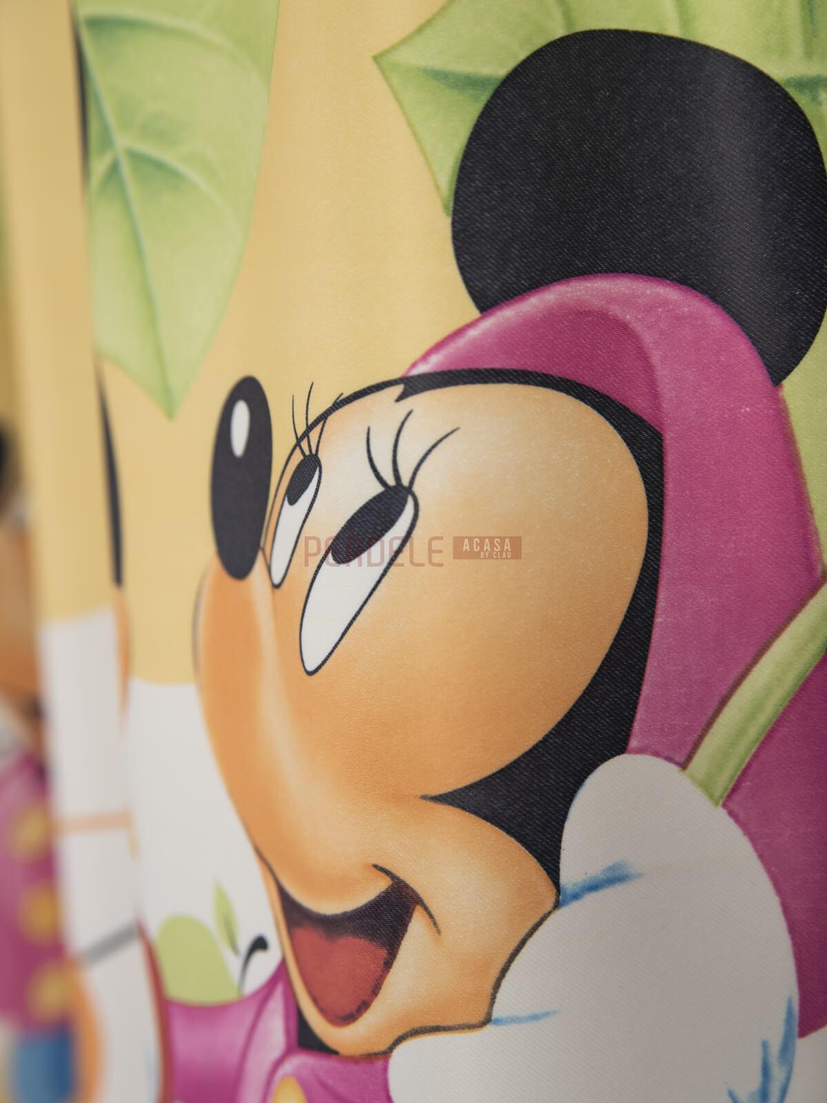Draperie satin model pentru copii cu Mikey/Minnie Mouse
