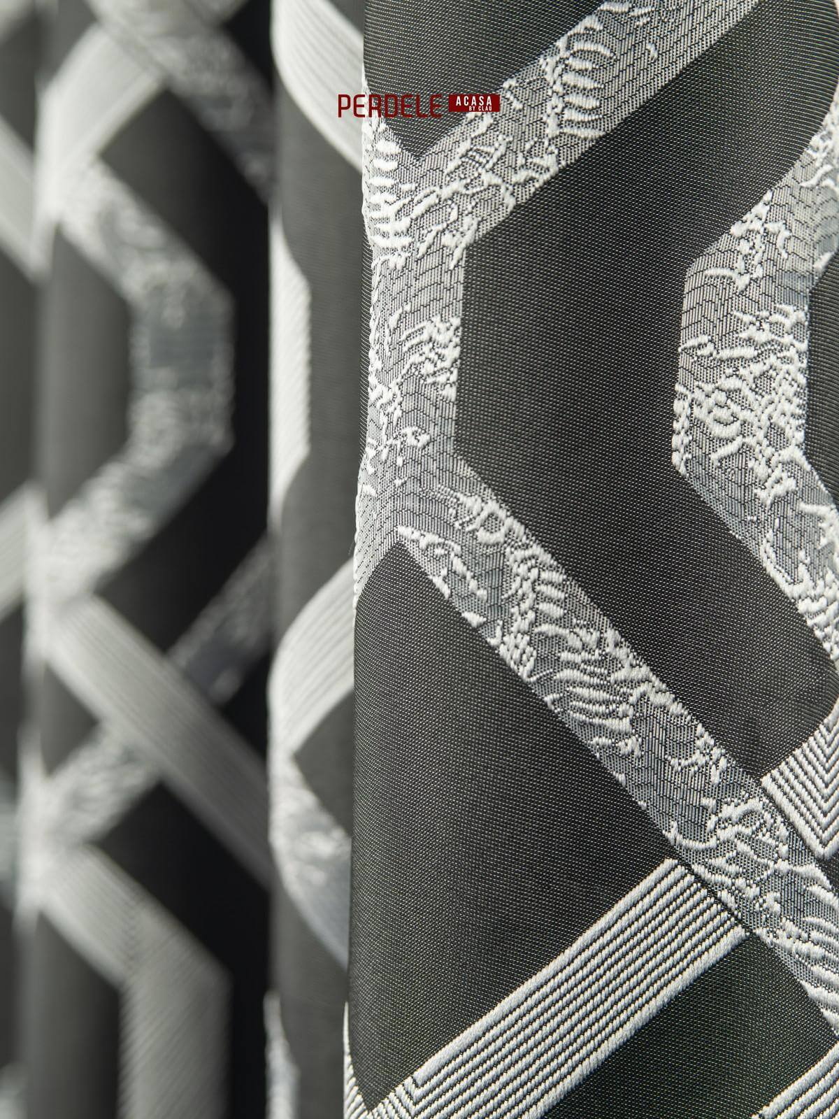 Draperie tafta negru,gri