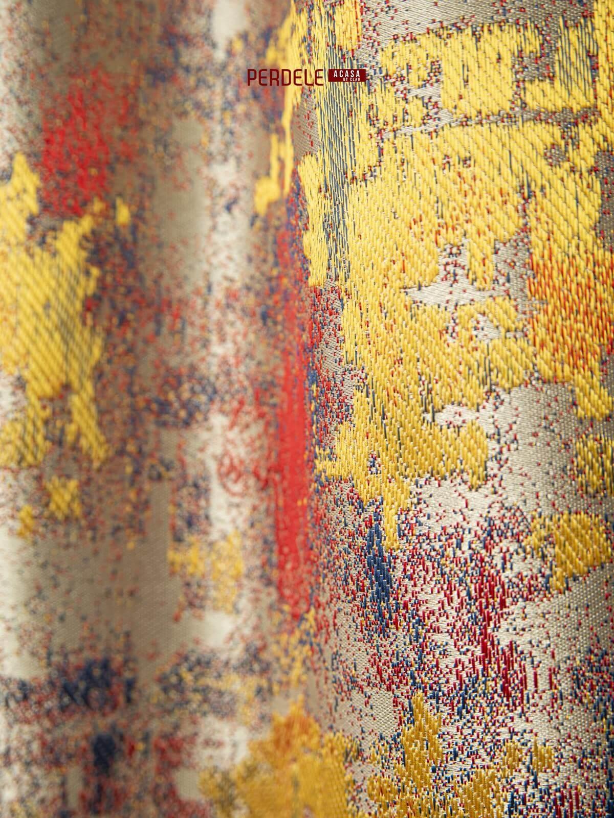 Draperii stofa crem,rosu,galben,albastru