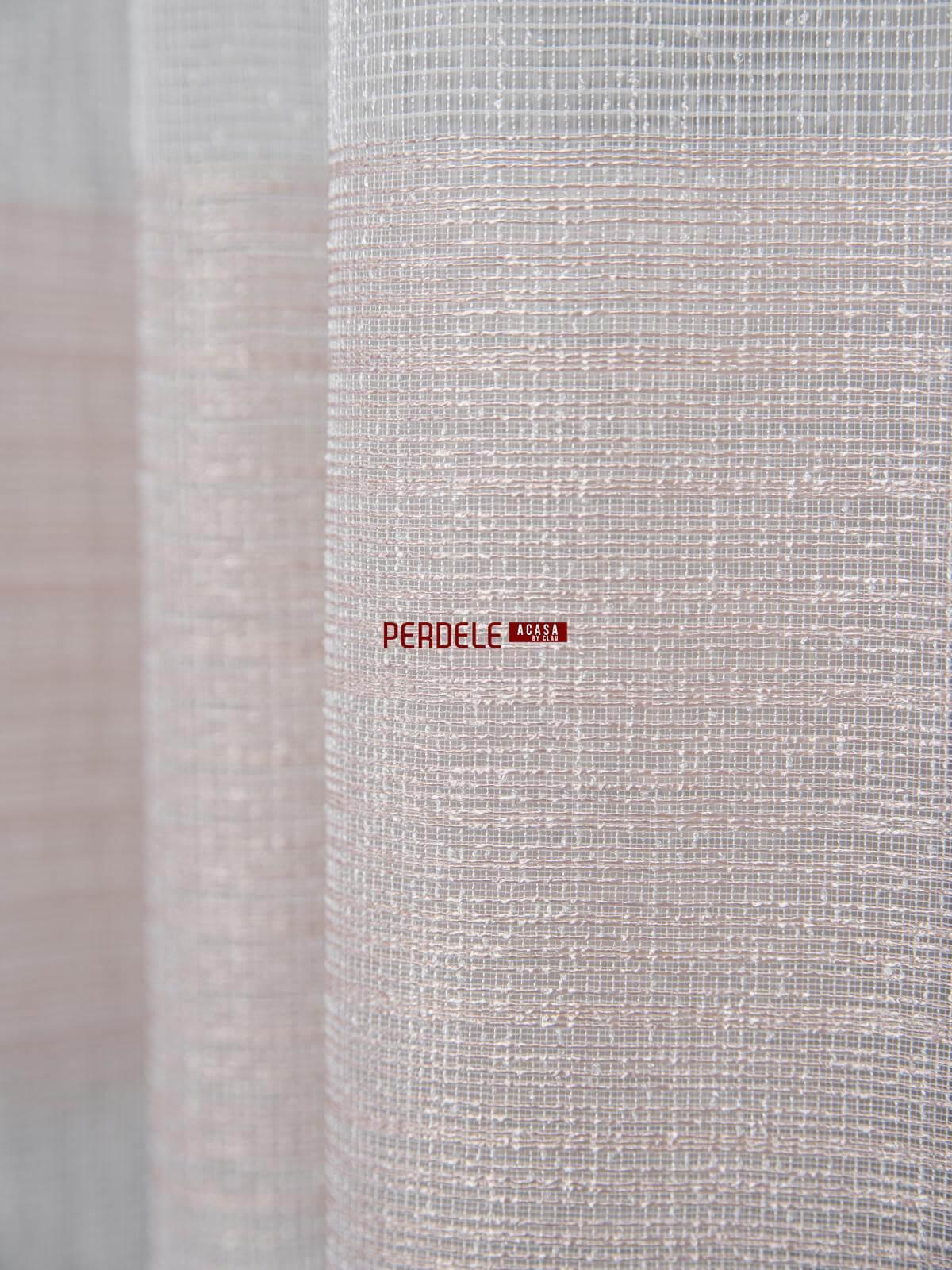 Perdea borangic ivoire/roz