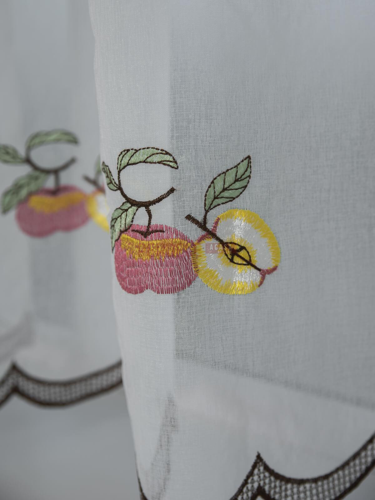 Perdea bucatarie, model fructe