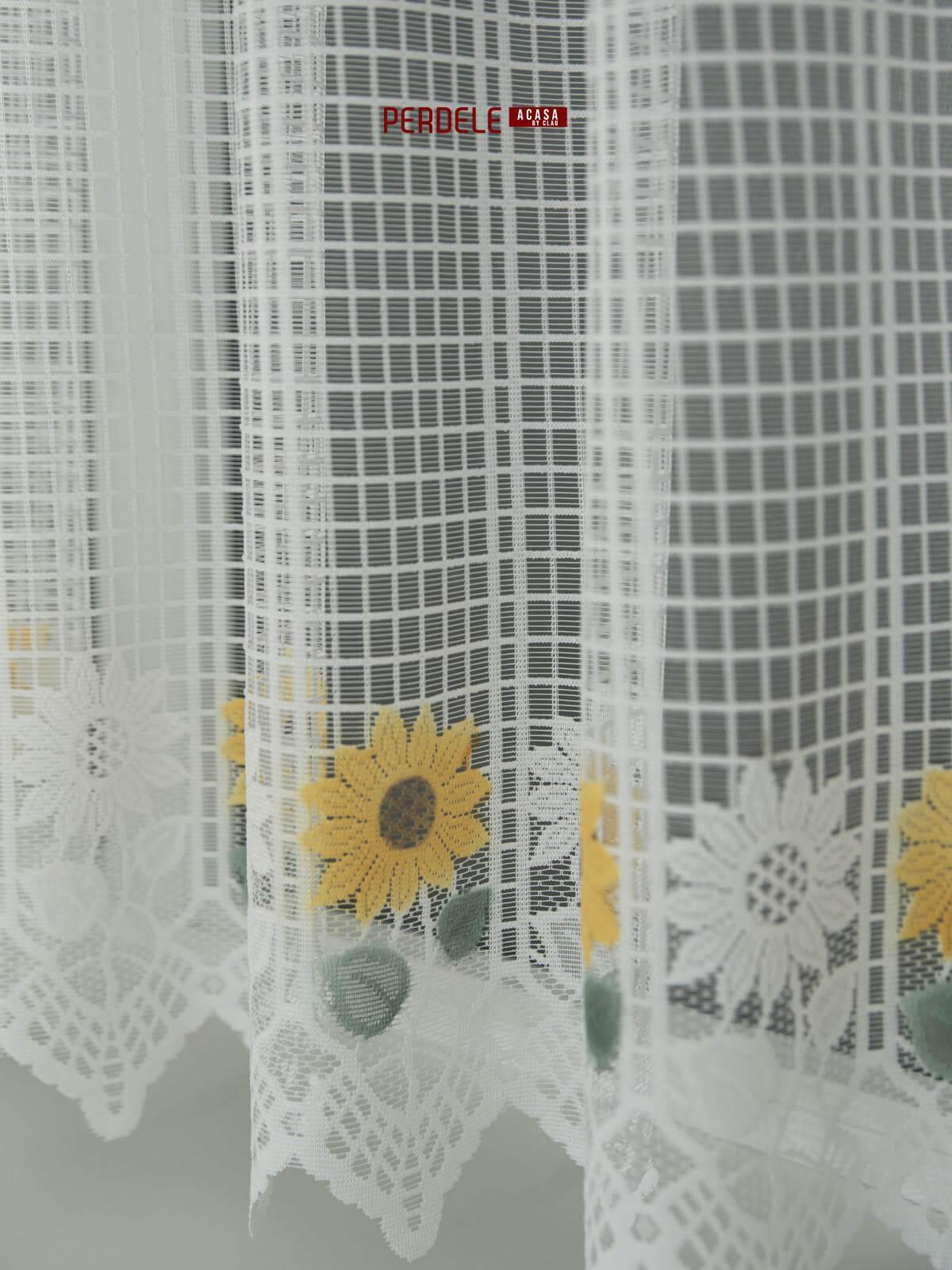 Perdea de pascani alba ,floarea soarelui